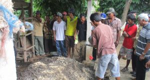 Pelatihan Pembuatan Kompos di Rama Gunawan-Lamteng